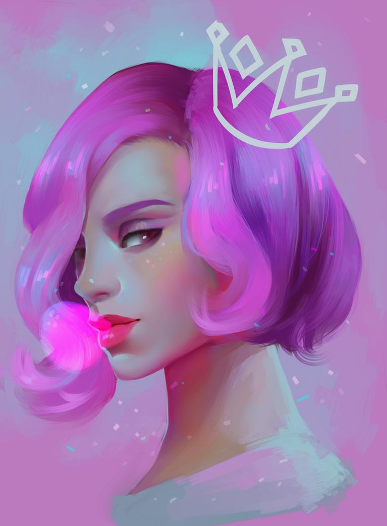 Bubblegum Queen by ERDJIE