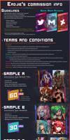 Erdjie's Commission Sheet 2021 [OPEN]