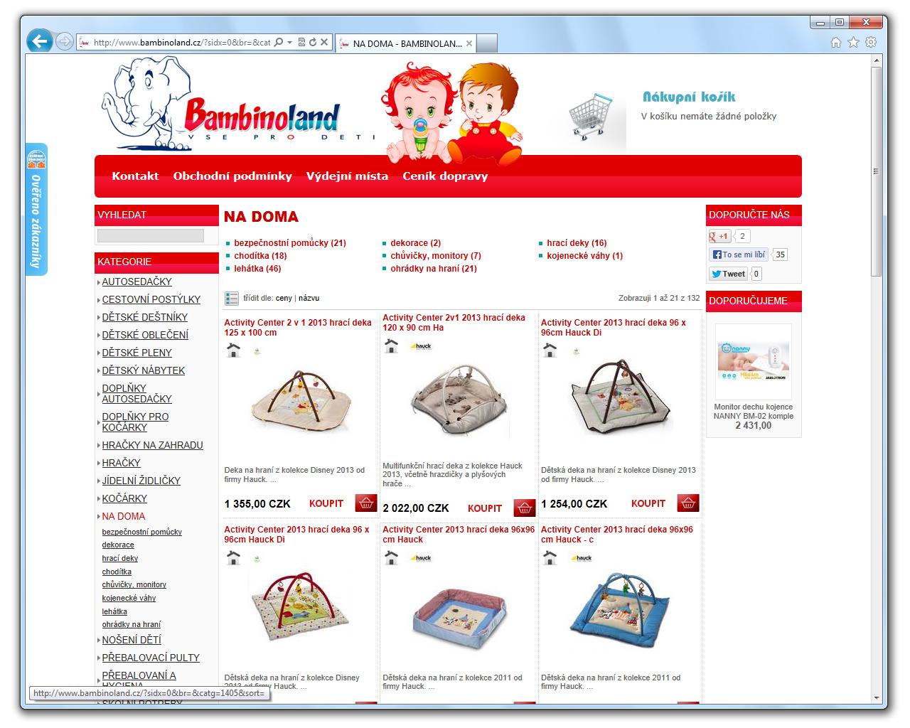 www.BAMBINOLAND.cz [ProFact 3.0 E-SHOP] by eXmind-ProFact