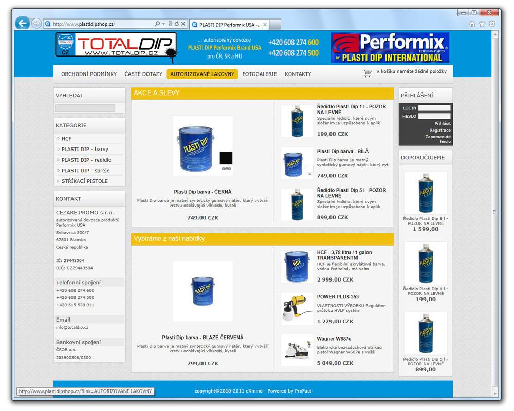 www.TOTALDIP.cz [ProFact 3.0 E-SHOP] by eXmind-ProFact