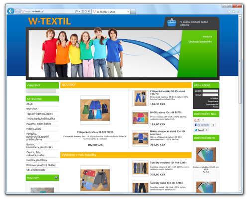 www.W-TEXTIL.cz [ProFact 3.0 E-SHOP]