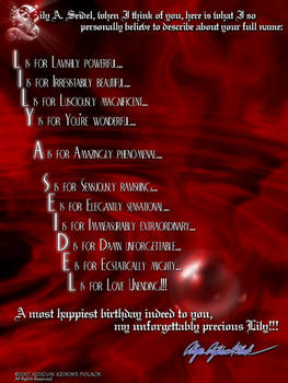 A Birthday Poem for Lily