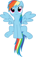 rainbow dash vector by starboltpony