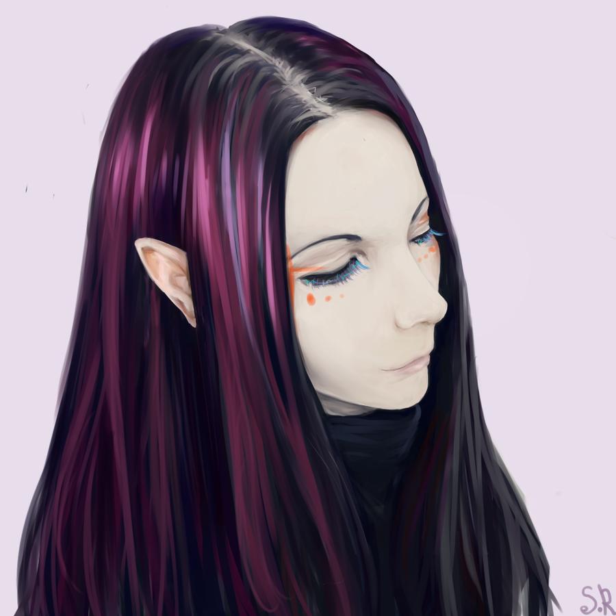 Elf. portrait by Shinroki