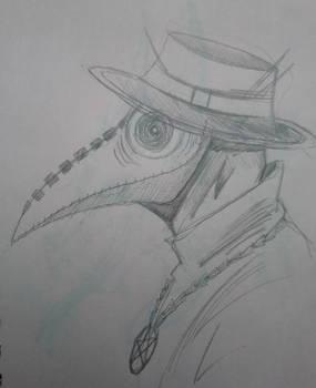 Plague doctor sketch