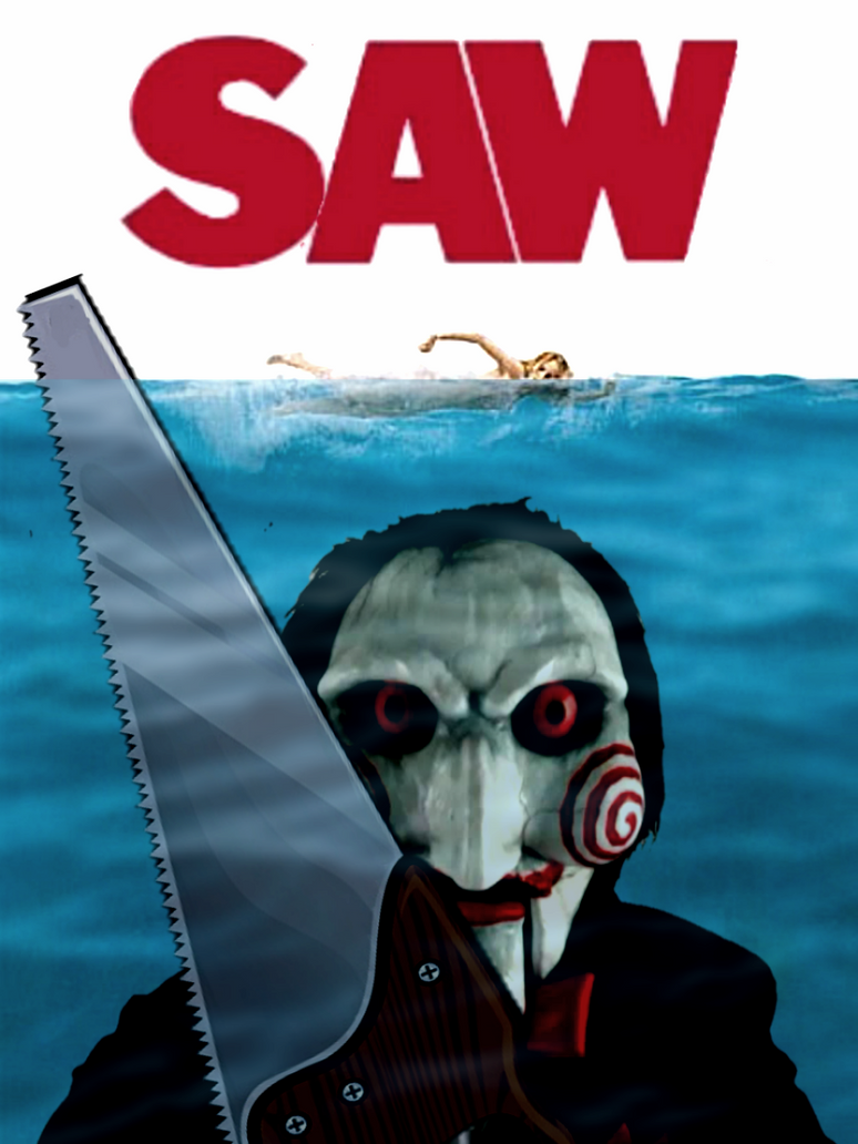 Saw/Jaws Poster Mashup by SnoopyQ
