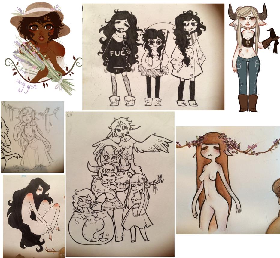doodle dump by owl-bones
