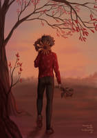 Sunflower boy by LonelyLemonLion