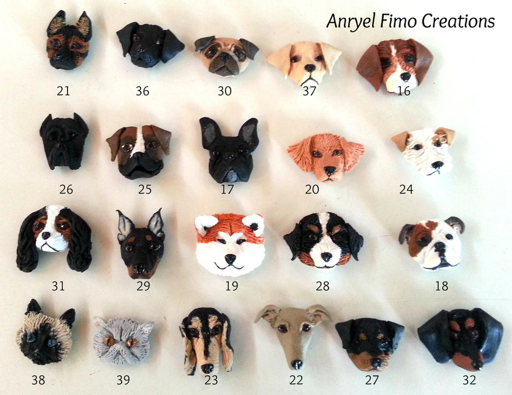 How To Make A Clay Dog Face