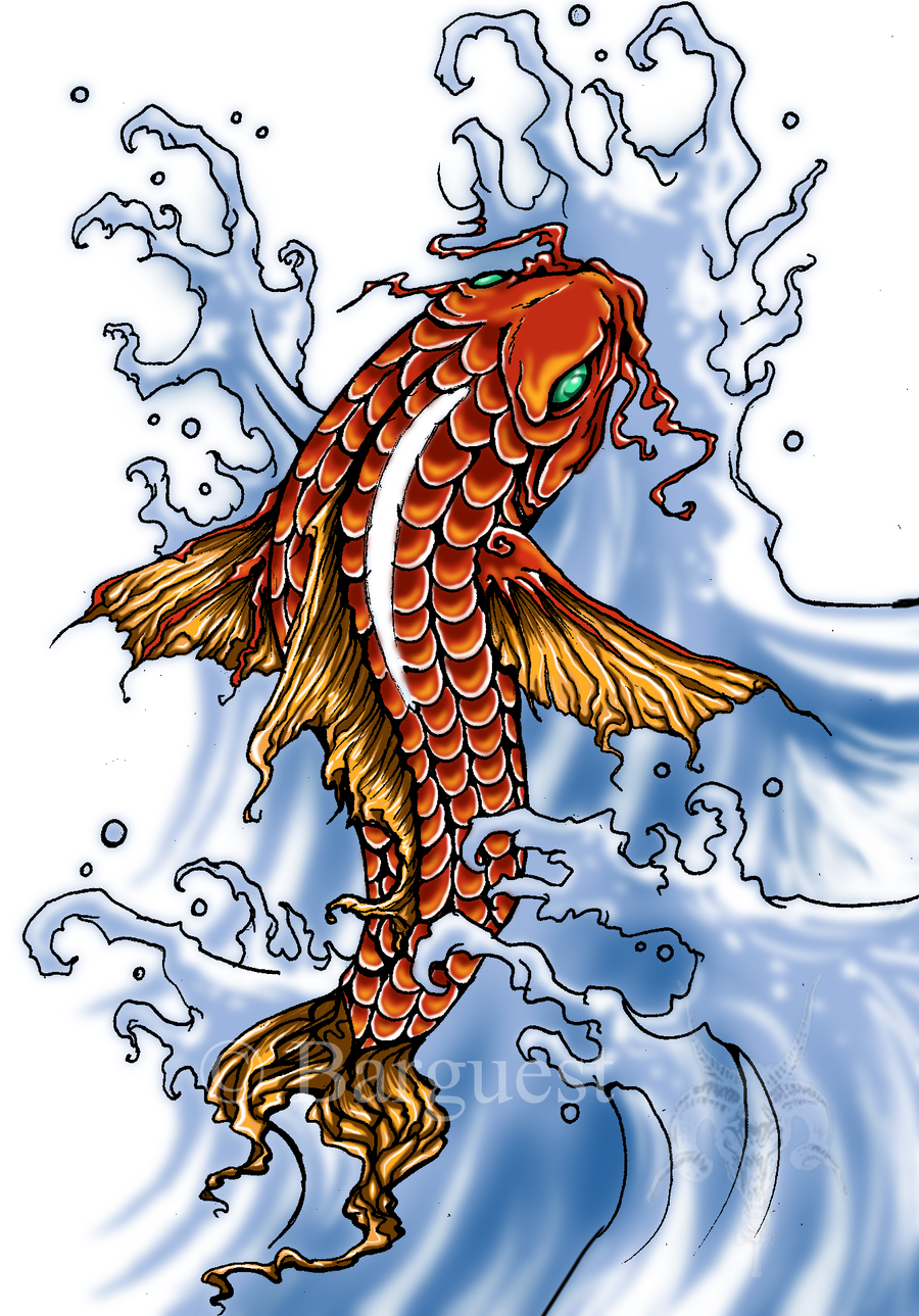 japanese koi by barguest on deviantart