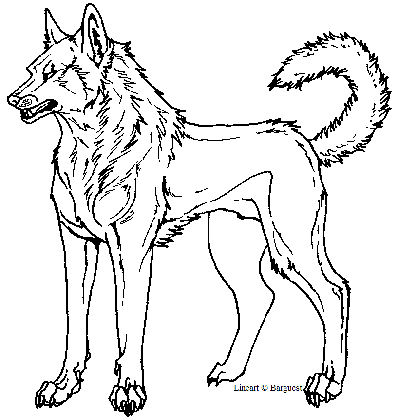 Line Art Templates : Free dog template lineart by barguest on deviantart