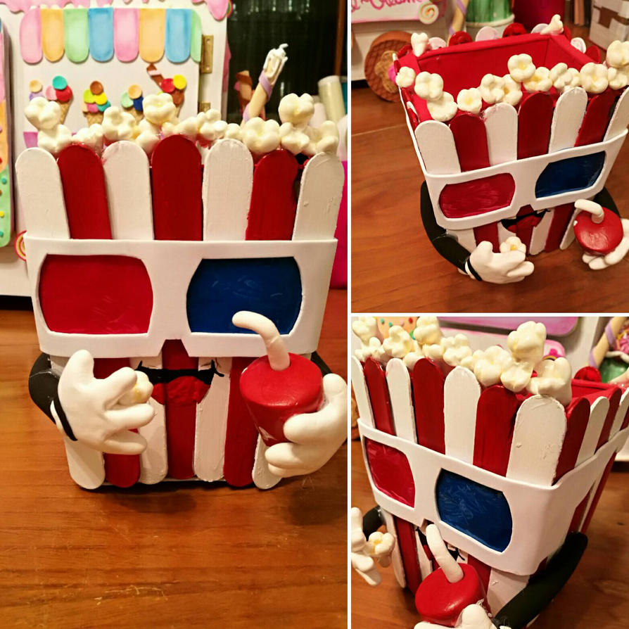 Pencils suport pop corn   by Beluchybessy