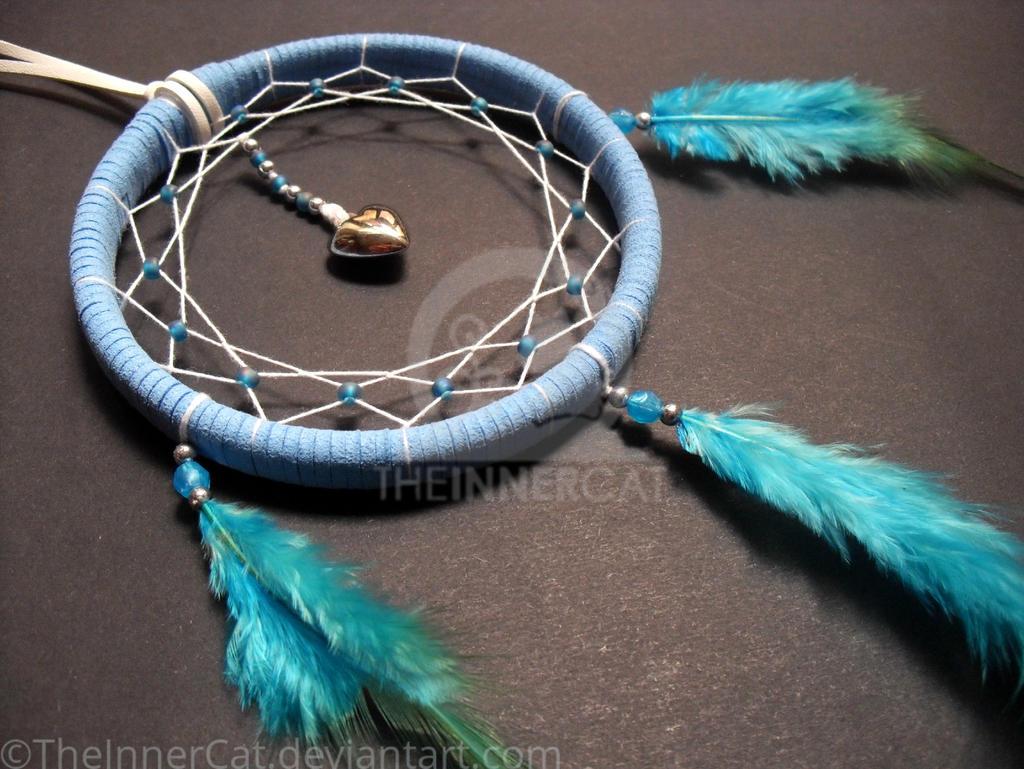 Blue Love Dream Catcher (Hand Made) by TheInnerCat