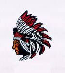 Feather Head Dress Man Embroidery Design