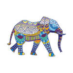Elephant African Hipster Vector