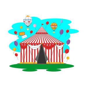 Circus Entrance Tent Vector