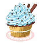 Dragees Kit Kat Cupcake Vector