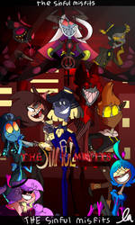 The Sinful Misfits COMIC COVER! by LinaVillain