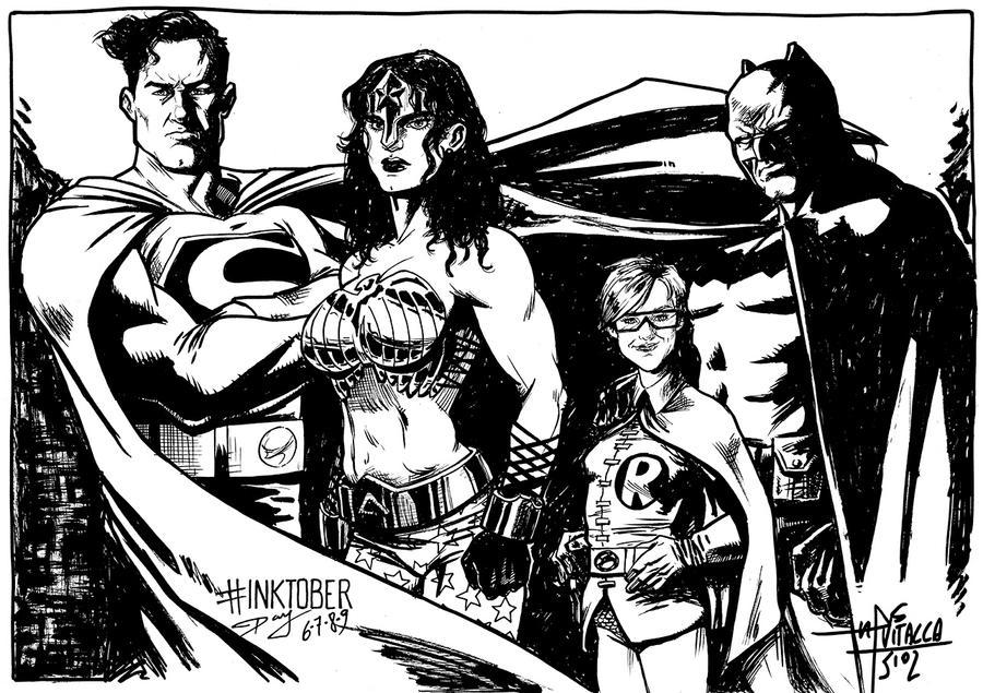 INKtober Day 6/7/8/9 - The Dark Knight by mvitacca