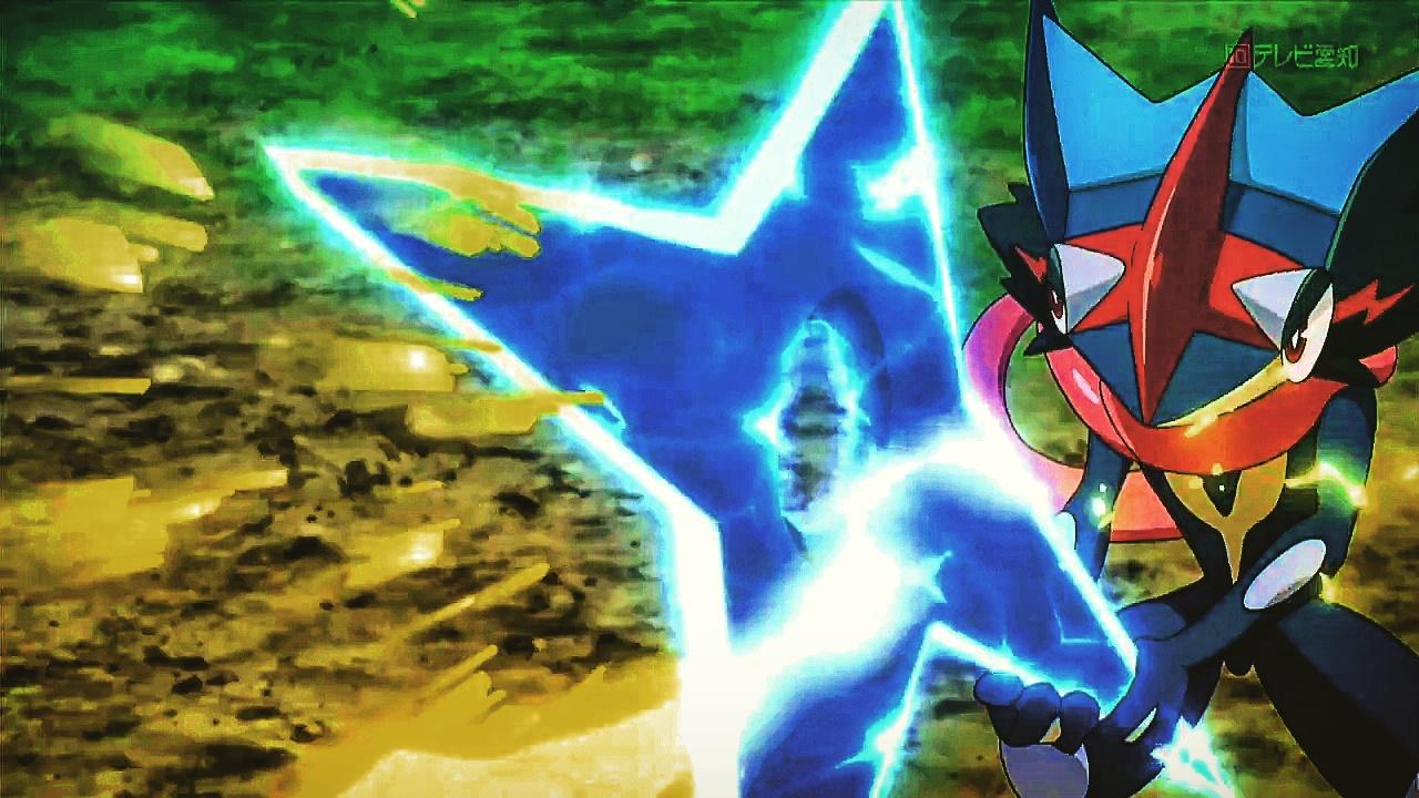 Ash Greninja Using Water Shuriken As A Shield By Pokemonsketchartist On Deviantart