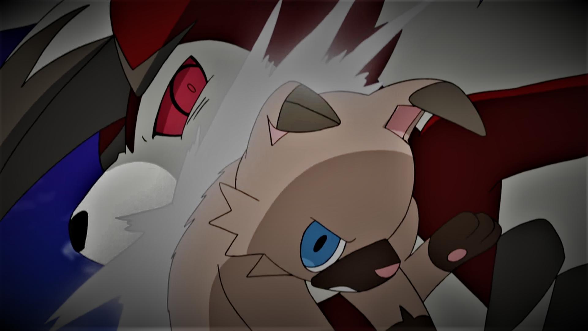 Rockruff battling Lycanroc (Midnight Form) by Pokemonsketchartist ...