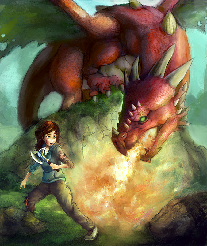 Amanda and the Dragon by SwarleyLeo