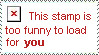 Stamp is Too Funny to Load by ptsluvsnfl