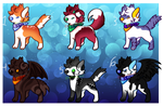 Cute n Creepy Canine Adopt Sheet OPEN!! 1/6 by MuffyandNinjaKitty