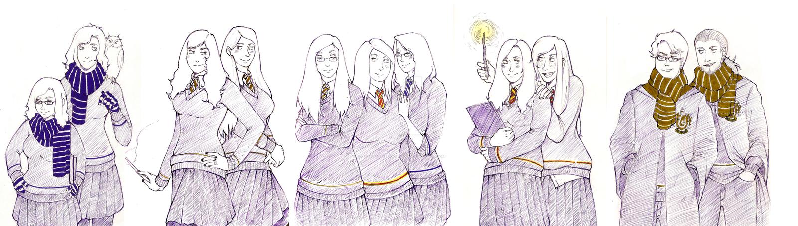 Students of Hogwarts by MademoiselleMushroom