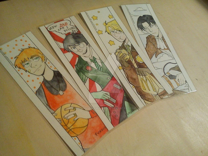 Bookmarks for sale by MademoiselleMushroom