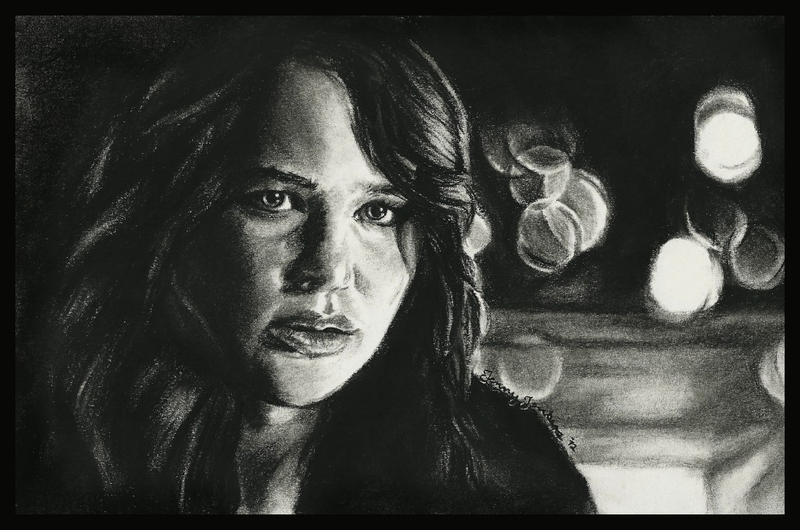 Katniss Everdeen by thewholehorizon