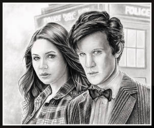 Amy and the Doctor by thewholehorizon