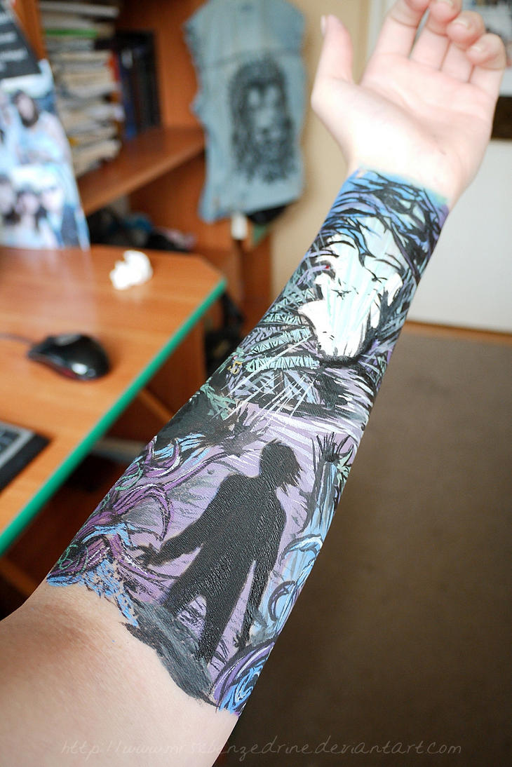 ADTR arm painting by mrsxbenzedrine on DeviantArt A Day To Remember Homesick Tattoos