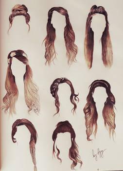 Zoella's hair