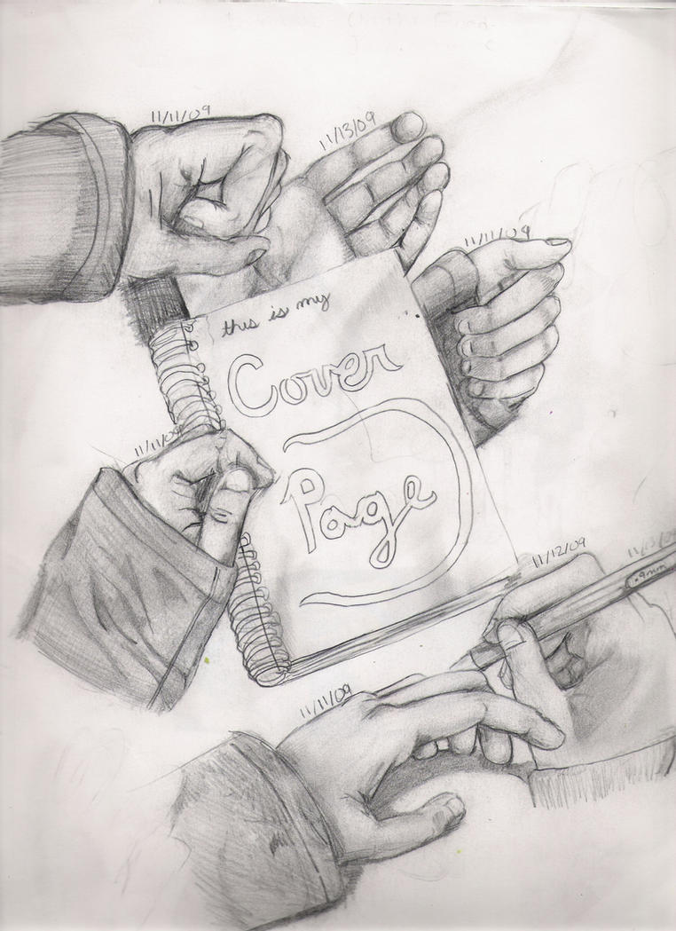 Sketchbook 1st page-handstudy by imjustellingyou