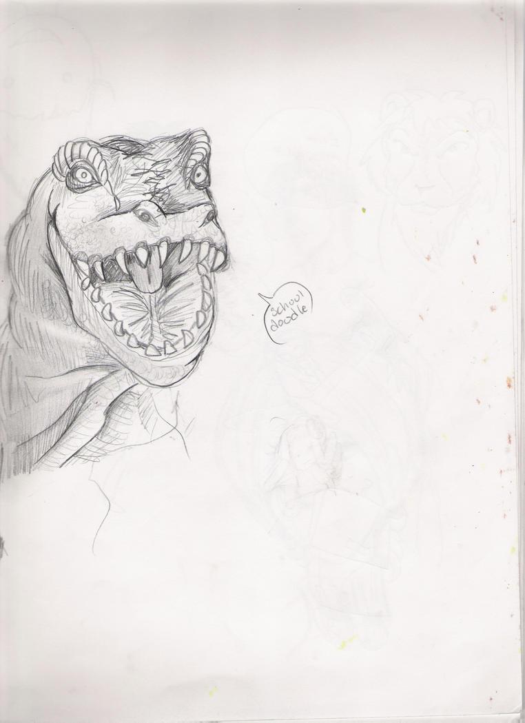 Dinosaur sketch-soundofthunder by imjustellingyou