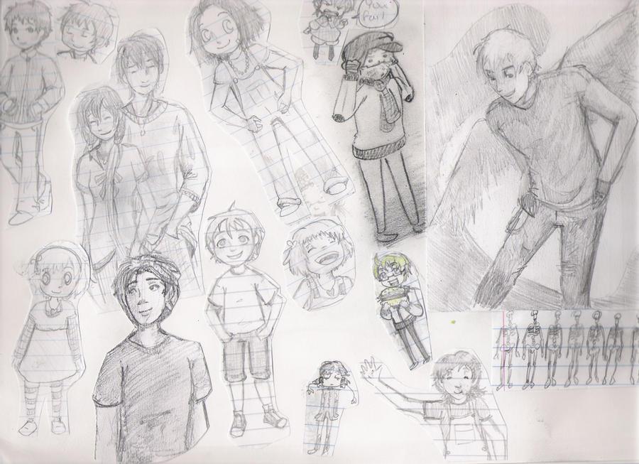 Sketchbook dump by imjustellingyou