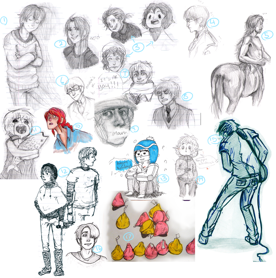 Sept-Jan 2010 sketchdump by imjustellingyou