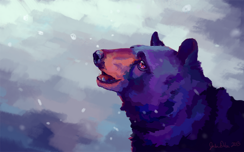 Black Bear Holiday Card -no text- by imjustellingyou