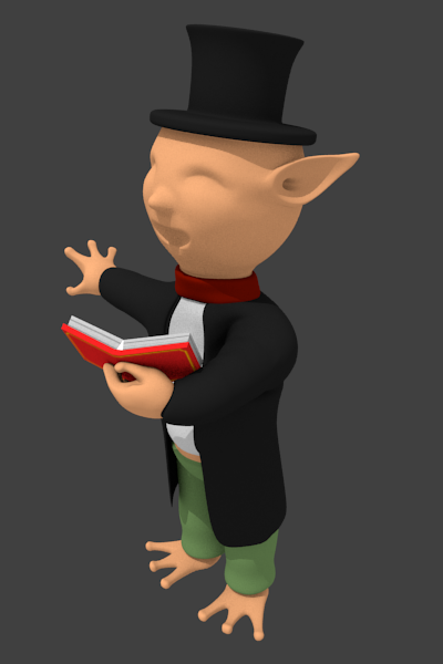 Elves - Christmas Caroler WIP by ChibiYugi