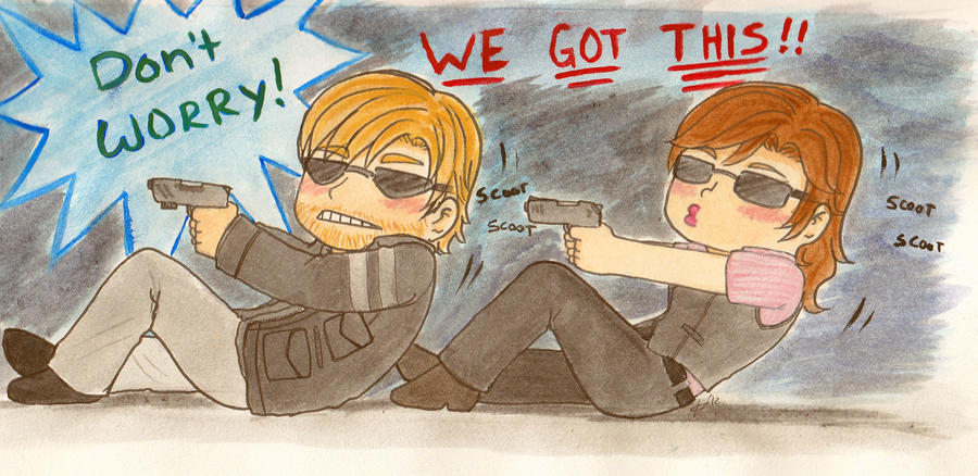 RESIDENT EVIL 6! Scooting edition... by Luckyoctopus