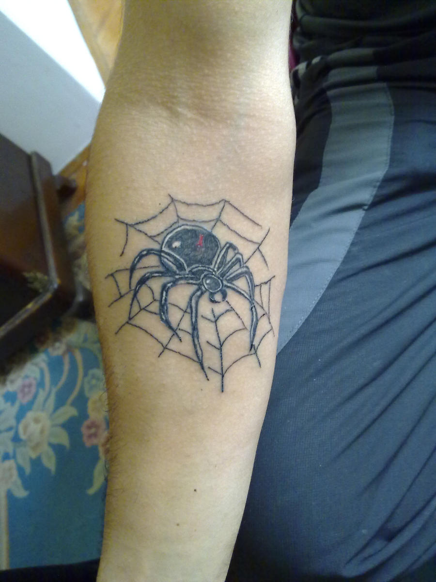 Фото тату тюремных пауков