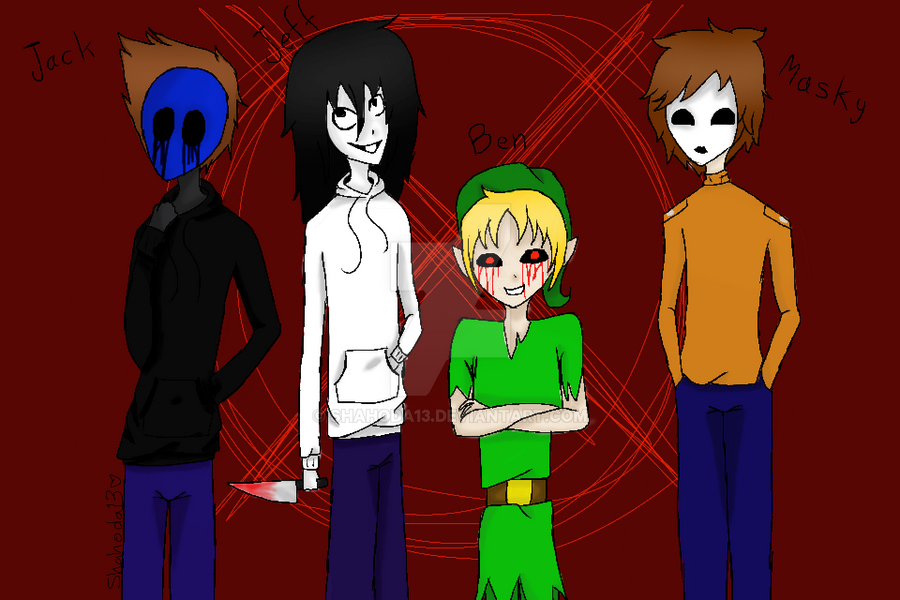 Eyeless Jack Jeff The Killer Ben Drowned Masky By Shahoda13 On