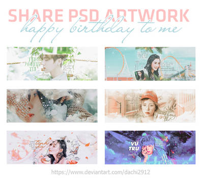 [STOP SHARE] PSD ARTWORK // HAPPY BIRTHDAY TO ME