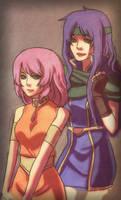FFV - Lenna  and Faris by Renuski