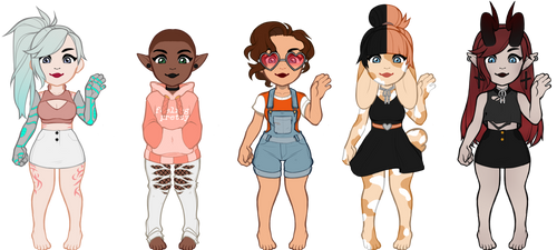 Humanoid Adoptables (Closed!!) by Catherine68