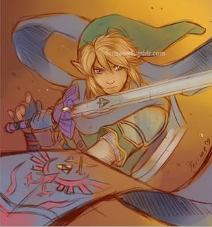Warrior in Blue Scarf