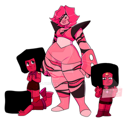 rhodonite and her rubies