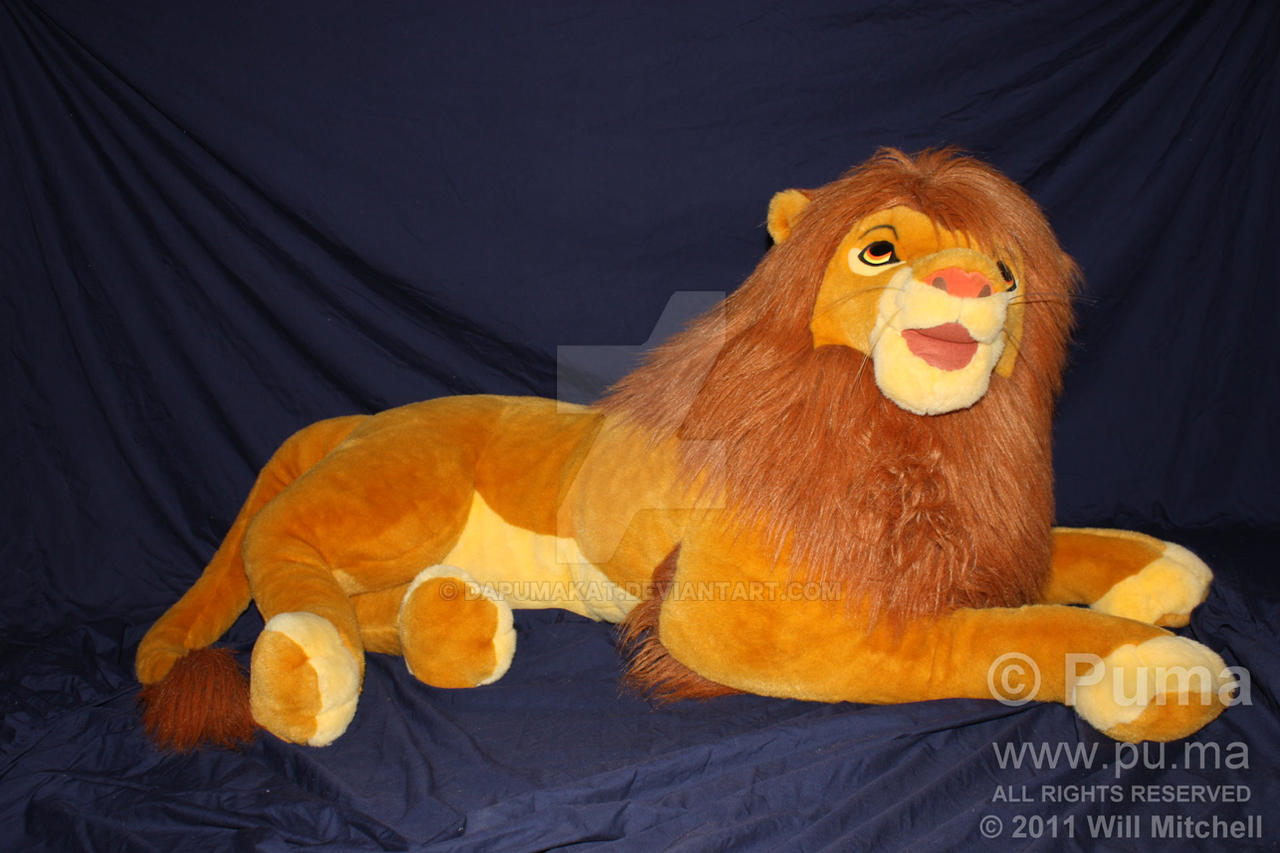 The Lion King - Life Size Adult Simba plush by dapumakat
