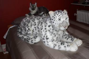 Life Size Snow Leopard plush